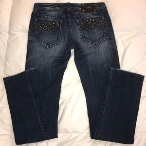 Miss-Me Straight Leg Angel Wing Jeans